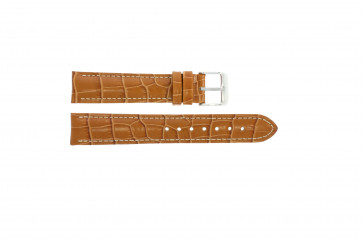 20mm en cuir croco marron clair PVK-285