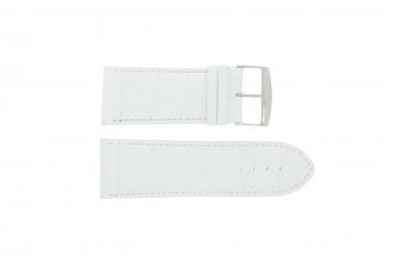 Bracelet de montre Universel 305R.09 Cuir Blanc 28mm