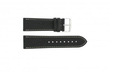 Bracelet de montre 307.01 Cuir Noir 18mm + coutures blanches