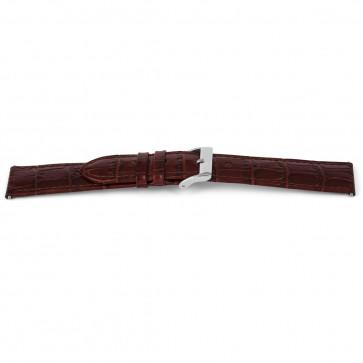 Bracelet de montre en cuir croco brun 14mm EX-G62