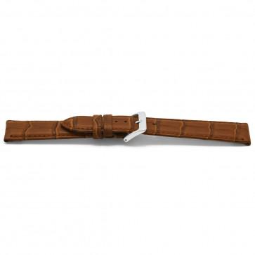 Bracelet de montre cuir croco brun 14mm EX-D349