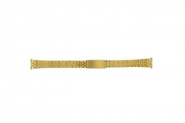 Bracelet de montre Universel 42539-1-14 / 42041.86.14 Acier Plaqué or 14mm