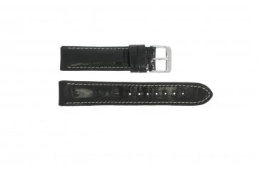 Noir cuir croco 20mm 61324