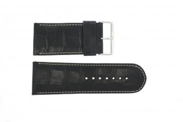 Bracelet de montre Universel 61324-36B Cuir Bleu 36mm
