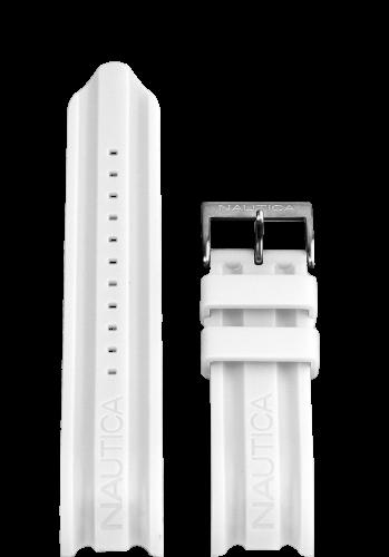 Nautica horlogeband A15567G Rubber Wit 24mm