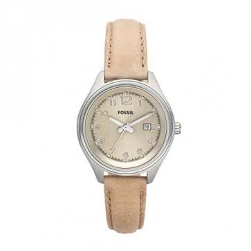 Bracelet de montre Fossil AM4377 Cuir Beige 22mm