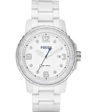 Bracelet Fossil Blanc De Ce5009 Céramique 22mm Montre ZiukXP