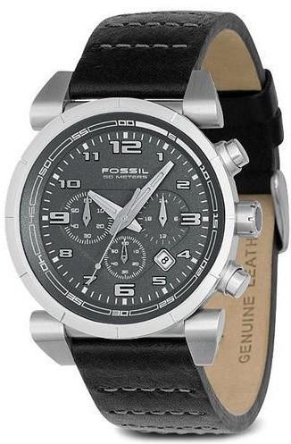 Bracelet de montre Fossil CH2494 Cuir Noir 22mm