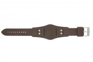 Bracelet de montre Fossil CH2565 Cuir Brun 22mm