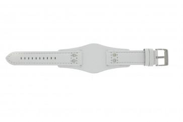 Fossil bracelet de montre CH2592 Cuir Blanc 22mm