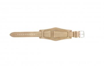 Bracelet de montre Fossil CH2794 Cuir Beige 18mm