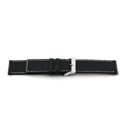 Bracelet de montre en cuir noir 30mm J43