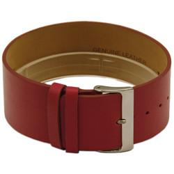 Une piece bracelet de montre en cuir 28mm rouge CCC.1037