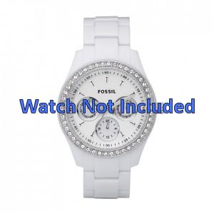 Bracelet de montre Fossil ES1967 Caoutchouc Blanc
