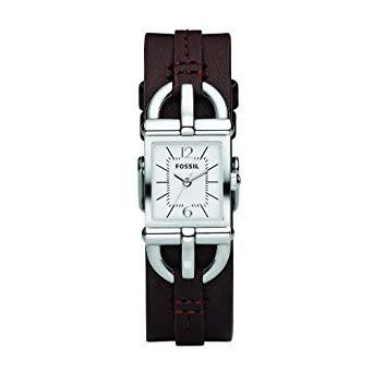 Bracelet de montre Fossil ES2637 Cuir Brun 7mm