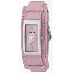 Bracelet de montre Fossil ES9859 Cuir Rose 14mm