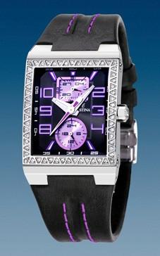 De 3 F16295 Bracelet Cuir Montre Violettes Festina NoirCoutures rdCWoxBe