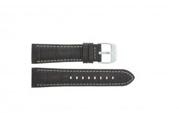 Festina bracelet de montre F16486/2 Cuir Brun foncé 23mm + coutures blanches