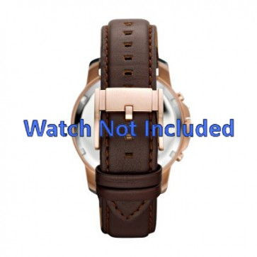 Fossil bracelet de montre FS-4648 Cuir Brun 22mm