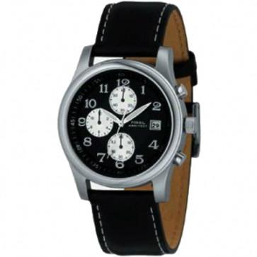 Bracelet de montre Fossil FS2898 Cuir Noir 22mm