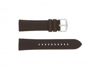 Bracelet de montre Fossil FS4735 / FS4813 Cuir Brun 22mm