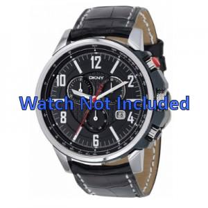 Bracelet de montre DKNY NY1325 Cuir Noir 22mm