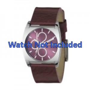 Bracelet de montre DKNY NY3426 Cuir Bordeaux 24mm