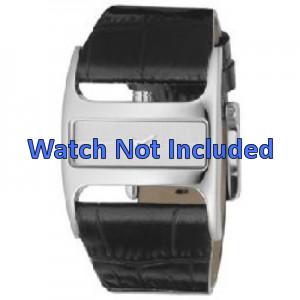 Bracelet de montre DKNY NY4179 Cuir Noir 29mm