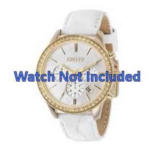 Bracelet de montre DKNY NY4844 Cuir Blanc 20mm