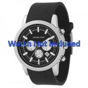 Michael Kors bracelet de montre MK8040 / MK8055 Caoutchouc Noir 22mm