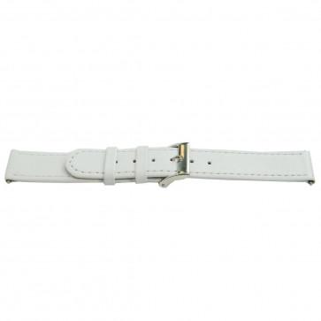 Bracelet de montre en vrai cuir blanc 22mm