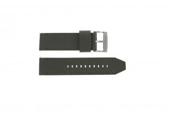 Fossil bracelet de montre JR1419 Cuir Gris 24mm + coutures grises