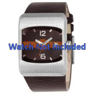 Bracelet de montre Fossil JR9389 Cuir Brun 16mm