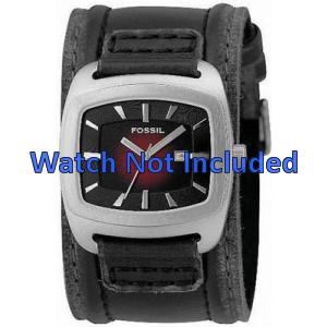 Bracelet de montre Fossil JR9498 Cuir Noir 22mm
