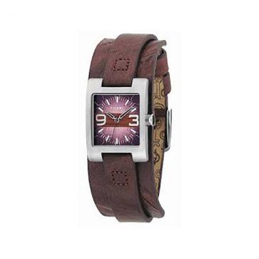 Bracelet de montre Fossil JR9515 Cuir Brun 12mm