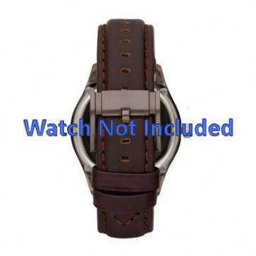 Fossil bracelet de montre ME1123 Cuir Brun foncé 22mm + coutures défaut