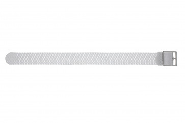 Bracelet de montre Universel PRLN.18.W Nylon Blanc 18mm