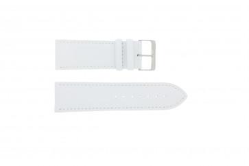 Bracelet de montre en cuir blanc 30mm