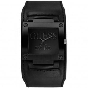 Bracelet de montre Guess W0418G3 / W1166G2 Cuir Noir 19mm