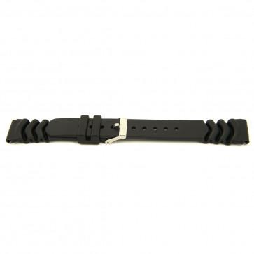 Bracelet de montre En caoutchouc 20mm Noir EX 6