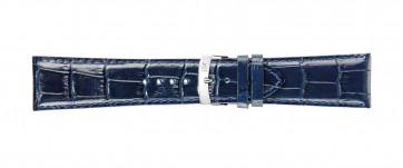 Morellato bracelet de montre Extra X3395656062CR30 / PMX062EXTRA30 Cuir croco Bleu 30mm + coutures défaut