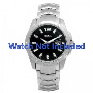Fossil bracelet de montre AM4089 Métal Argent 22mm