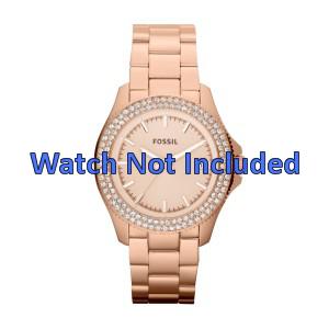Fossil bracelet de montre AM4454 Métal Or (rosée) 18mm
