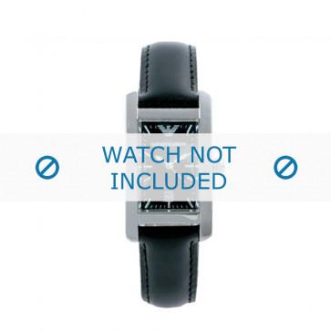 Bracelet de montre Armani AR0122 Cuir Noir 14mm