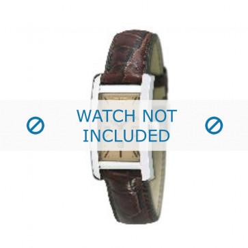 Armani bracelet de montre AR-0125 Cuir croco Brun 18mm