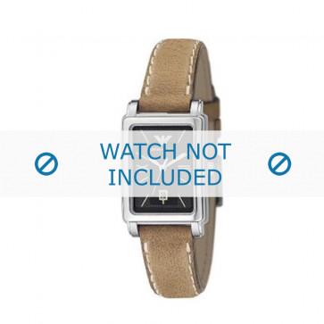 Armani bracelet de montre AR-0134 Cuir Brun clair 14mm + coutures blanches