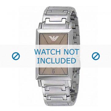 Armani bracelet de montre AR-0139 Métal Argent 20mm