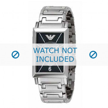 Armani bracelet de montre AR-0140 Métal Argent 20mm