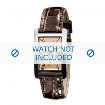 Bracelet de montre Armani AR0155 Cuir Brun 18mm