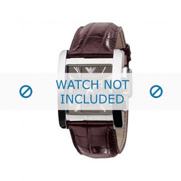 Bracelet de montre Armani AR0185 Cuir Brun 28mm